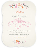 Pink Primrose Wedding Invitations