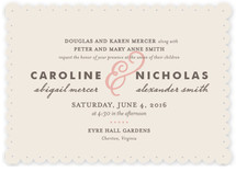 Delicate Ampersand Wedding Invitations