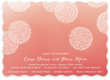 Baby's Breath Pom Poms Wedding Invitations