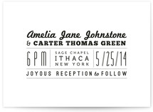 Type Fiend Wedding Invitations