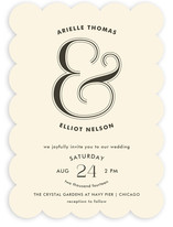 Curved Wedding Invitations
