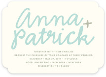 You+Me Wedding Invitations