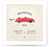 Vintage Car (Bonnie Ride) Wedding Invitations
