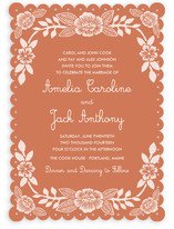 Block Printed Floral Wedding Invitations