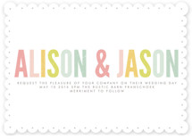 Ice Cream Parlour Pastels Wedding Invitations