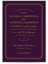 Luxe Border Wedding Invitations