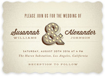 Ampersand Marquee Wedding Invitations