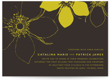 Modern Lotus Wedding Invitations