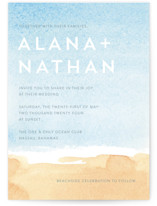 Painted Sea Wedding Invitations