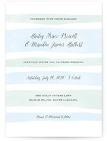 Sorbet Stripes Wedding Invitations