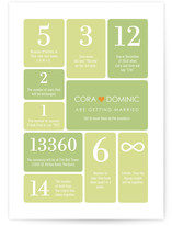 Wedding by Numbers