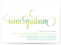 Hip Swish Wedding Invitations
