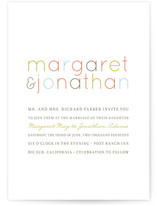 Modern Type Wedding Invitations