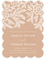 Leaves and Kraft Wedding Invitations