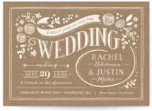Alabaster Florals Wedding Invitations