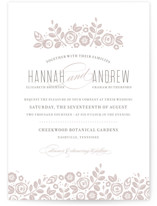 White Shadows Letterpress Wedding Invitations