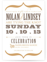Bold Brackets Letterpress Wedding Invitations