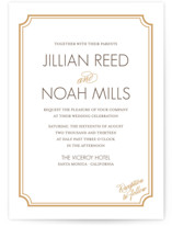 Modern Classic Letterpress Wedding Invitations