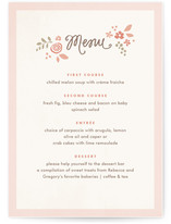Pink Blossoms Menu