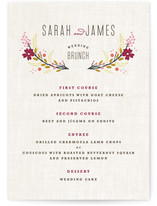 Botanical Blooms Menu