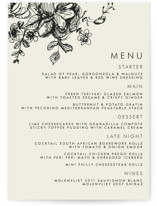 Elegance Illustrated Menu