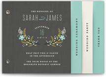Botanical Blooms Wedding Program Minibook™ Cards