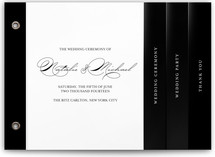 Modern Elegance Wedding Program Minibook™ Cards