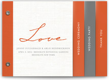 Simply in Love Wedding Program Minibook™ Cards