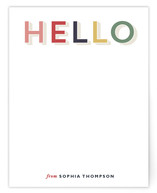 Rainbow Hello by Wondercloud Design