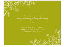 Victorian Vine Monogram Reception Cards