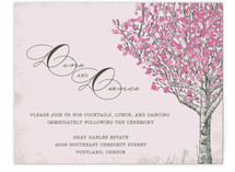 Cherry Blossom Reception Cards