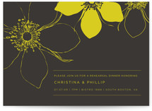 Modern Lotus Rehearsal Dinner Invitations