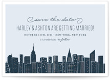 Big City - New York Foil-Pressed Save the Date Cards