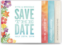 Tropical Date Save the Date Minibook™ Cards