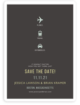 Planes Trains Automobiles Save the Date Magnets
