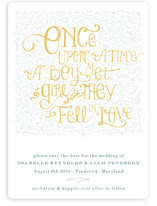 Once Upon Save the Date Magnets
