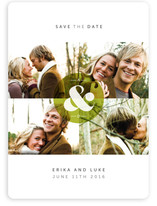 Ampersand Monogram Save the Date Magnets