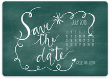 Chalk and Black Paper Save the Date Magnets