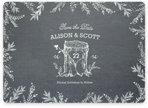 Woodland Romance Save the Date Magnets
