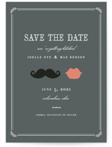 Stache + Kiss Save the Date Postcards