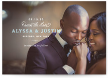 Timeless Save the Date Postcards