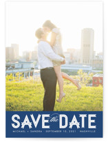 Modern Ribbon Save the Date Postcards