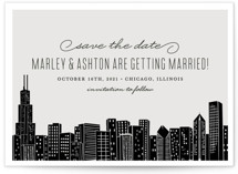 Big City - Chicago Save the Date Postcards