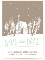 Cabin Love Save the Date Cards