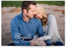 Elegant Script Save the Date Cards