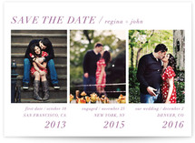 Modern Storyline Save the Date Cards