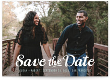 Retro Script Save the Date Cards