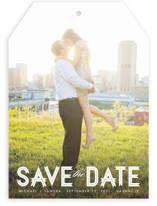 Modern Ribbon Save the Date Cards