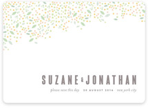 Modern Dotted Blooms Save the Date Cards