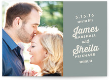 Typographic Love Save the Date Cards